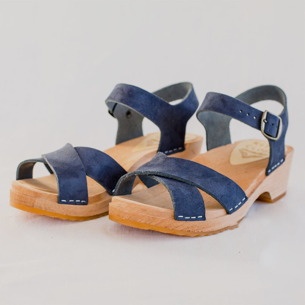 Sale! Low Dansare Clog, Midnight Suede