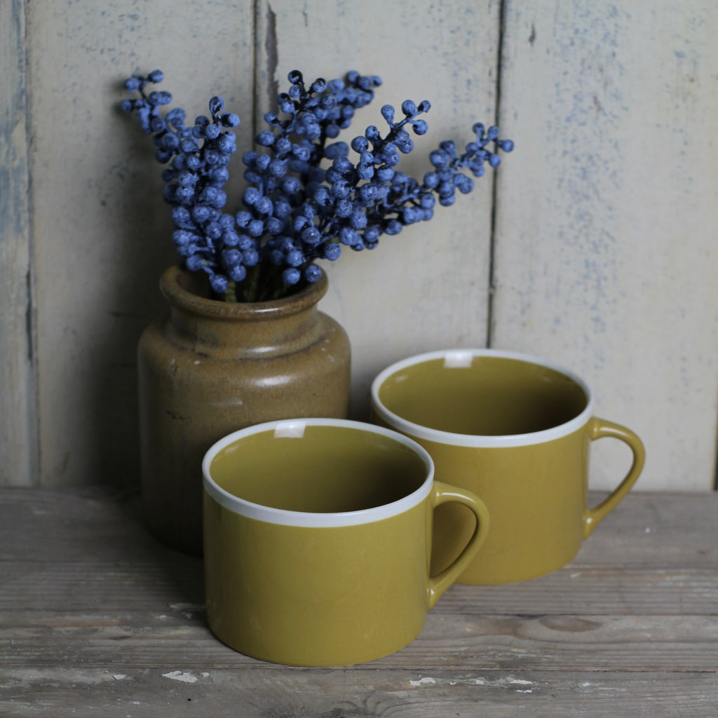 Handmade coffee cup, Mustard - Closet & Botts