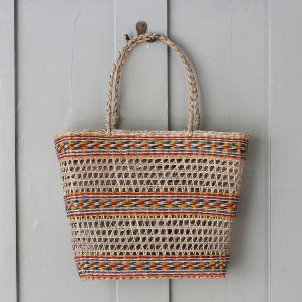 Coloured Seagrass Basket