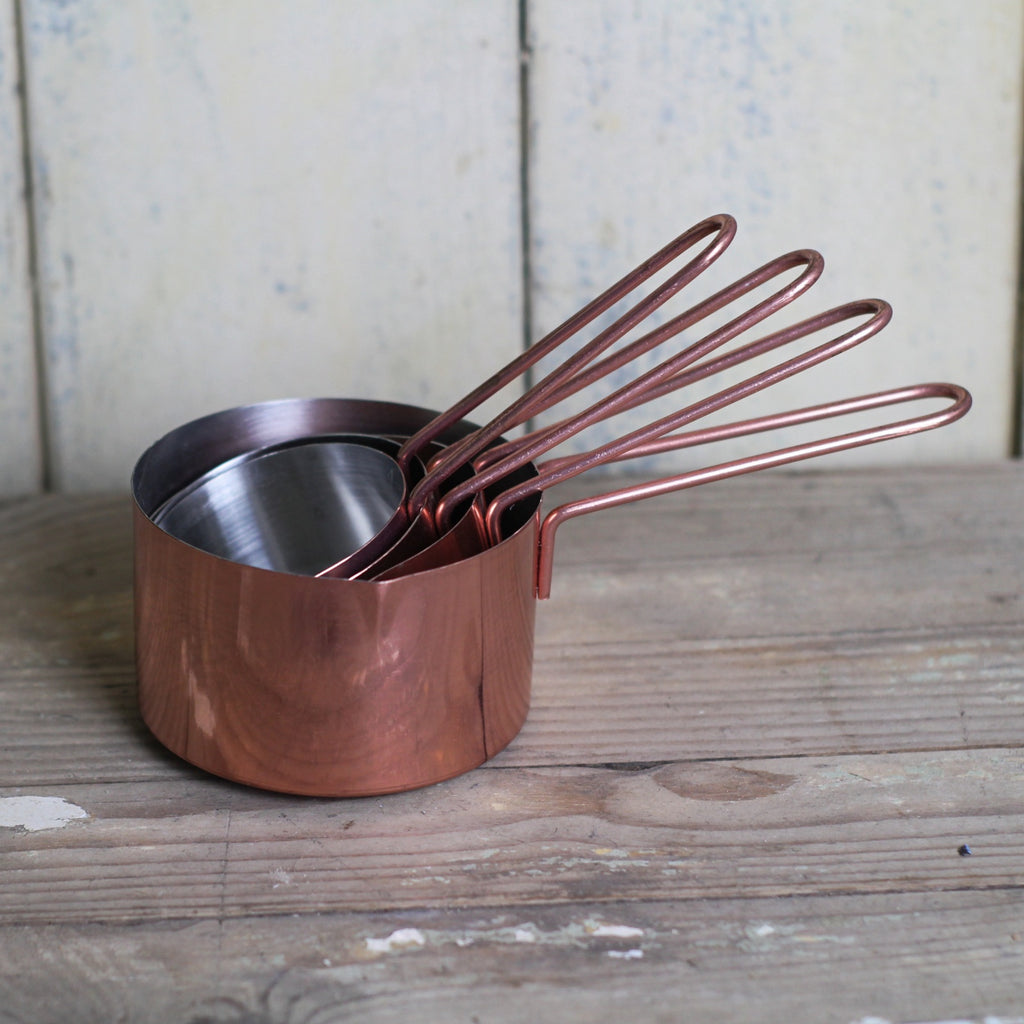 Set of Copper Measuring Cups - Closet & Botts