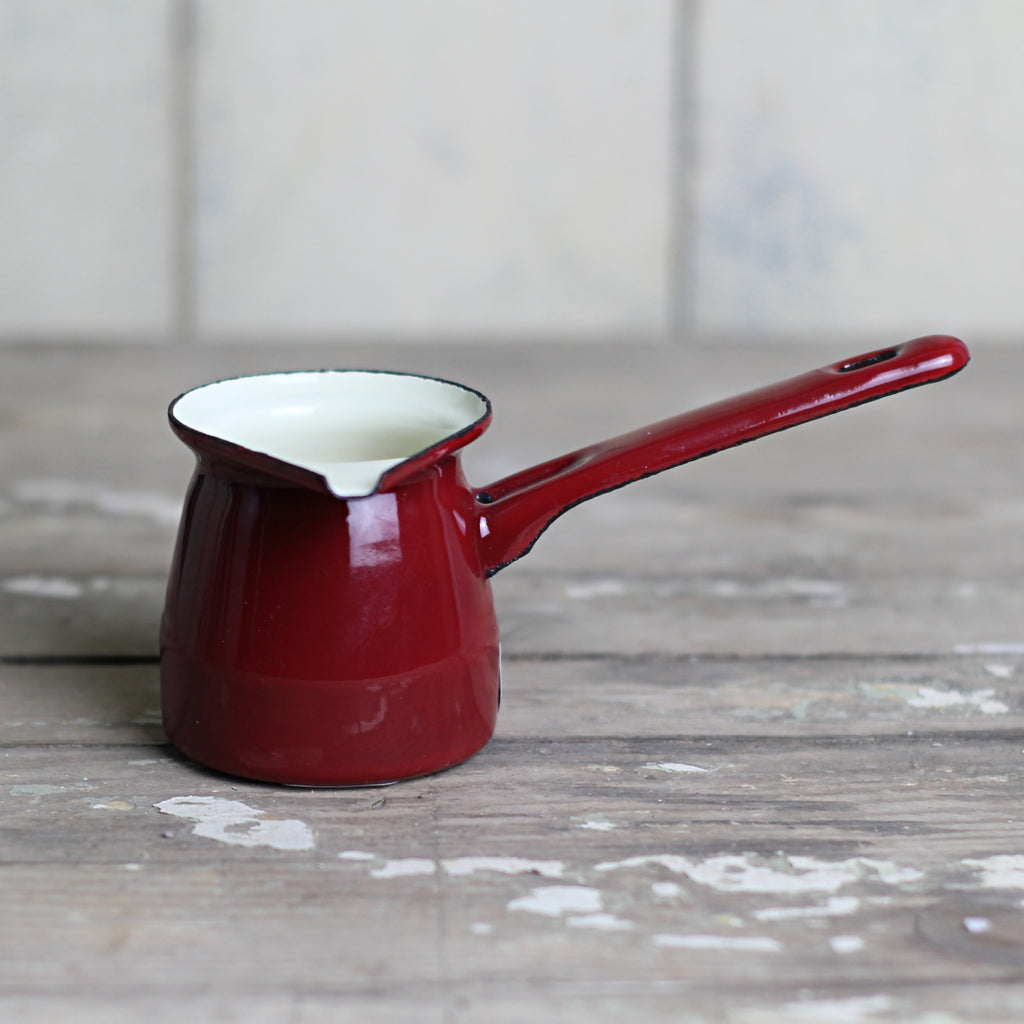 Small Enamel Creamer - Red - closetandbotts