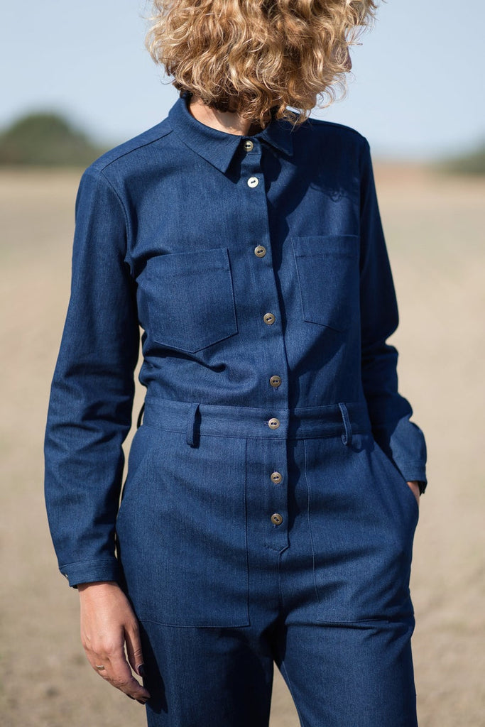 Long sleeved Denim Jumpsuit - [product_Option1 Value] - Homeware Store