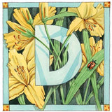 Botanical Alphabet Card