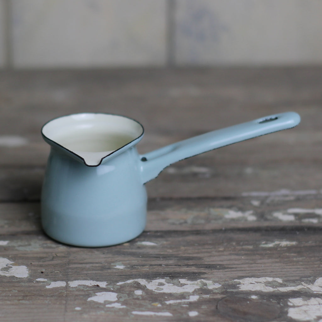 Small Enamel Creamer - Duck Egg - Closet & Botts