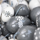 Grey Painted Easter Egg