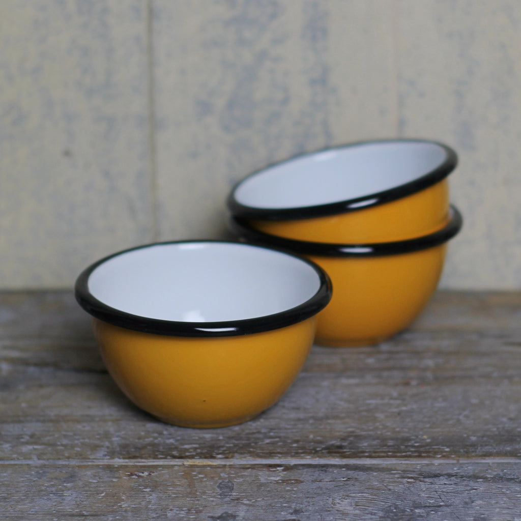 Small Enamel Bowl - Mustard - Homeware Store