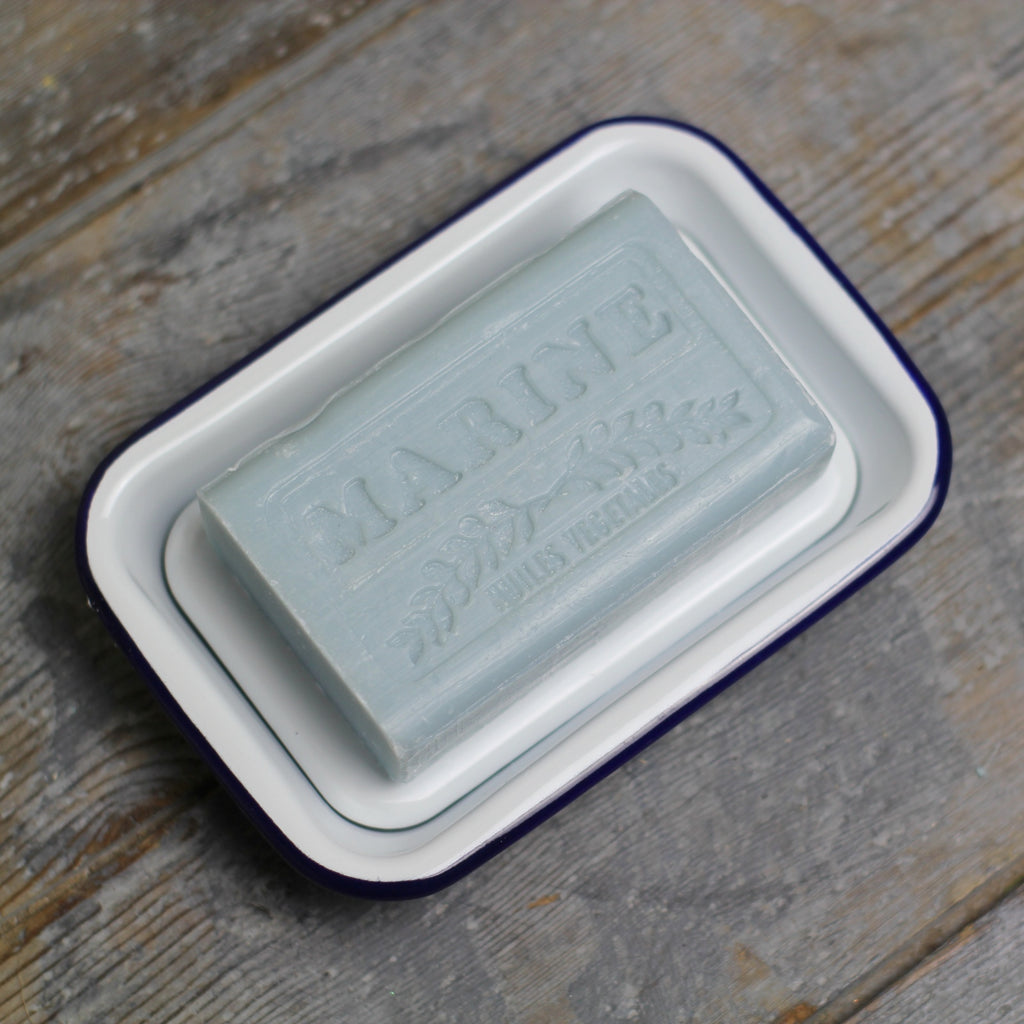 White enamel soap dish | Homeware Store