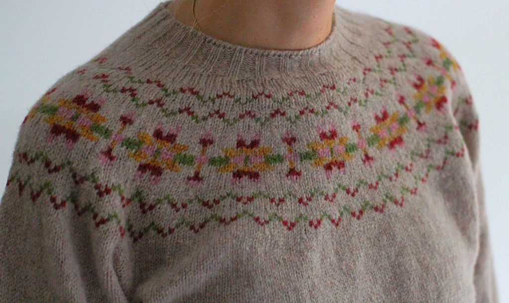 Fair Isle Crew Neck Jumper, Faun - closetandbotts