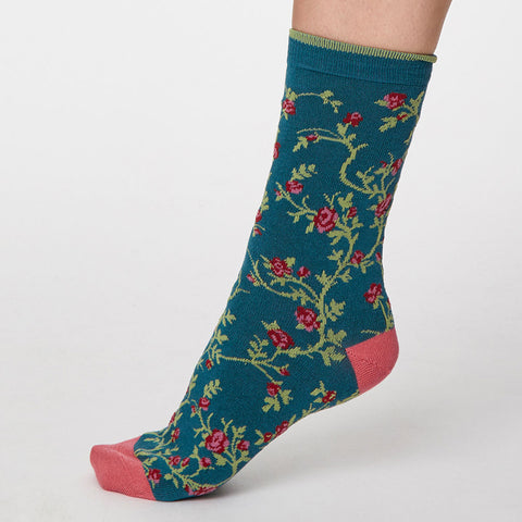 Thought Bamboo Socks, Trailing Rose