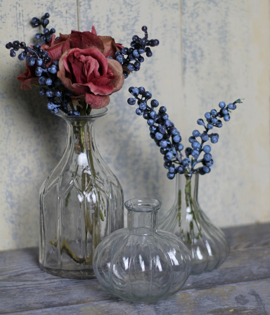 Fluted Glass Vase - Homeware Store