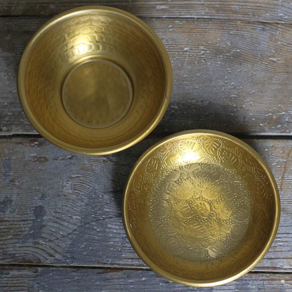 Antiqued Brass Bowl - Closet & Botts