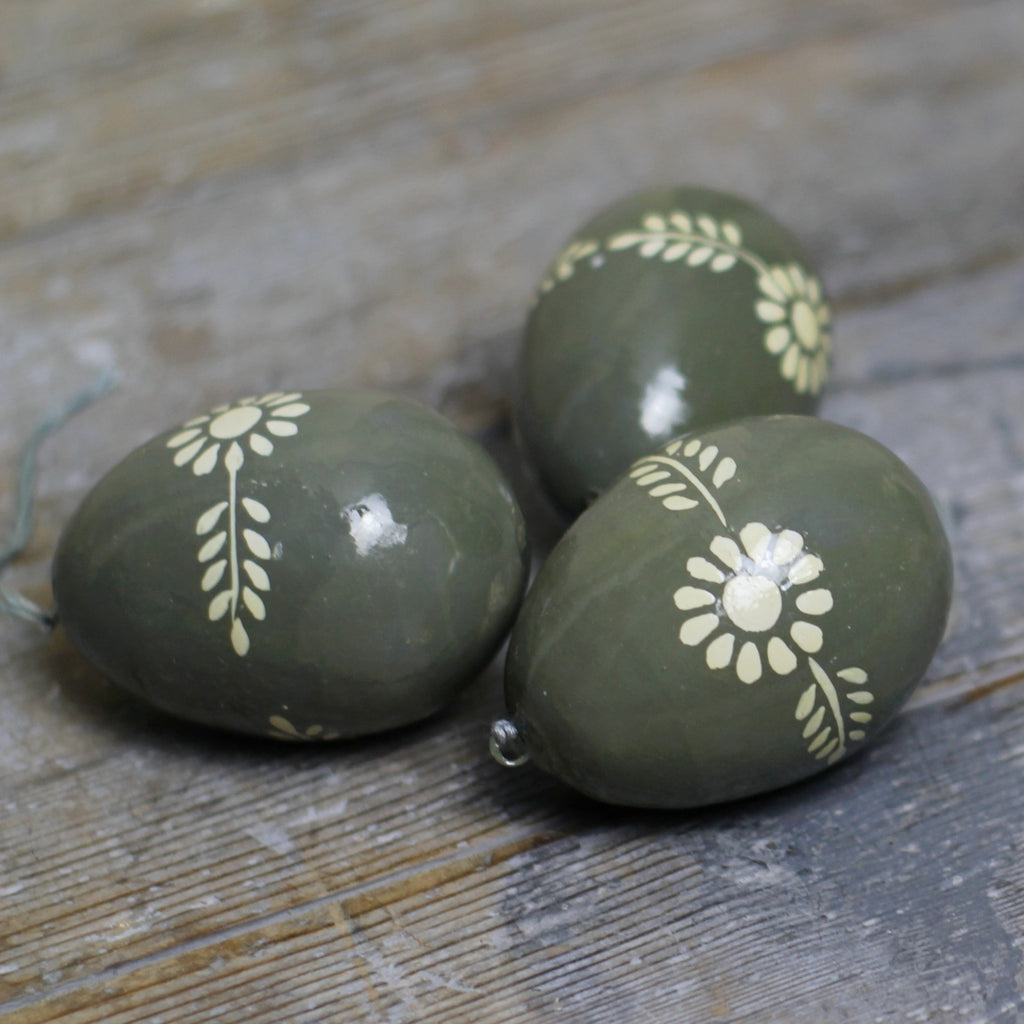 Grey Painted Easter Egg - Homeware Store