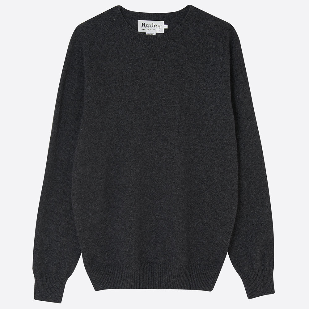 Men's Cashmere Jumper, Charcoal - closetandbotts