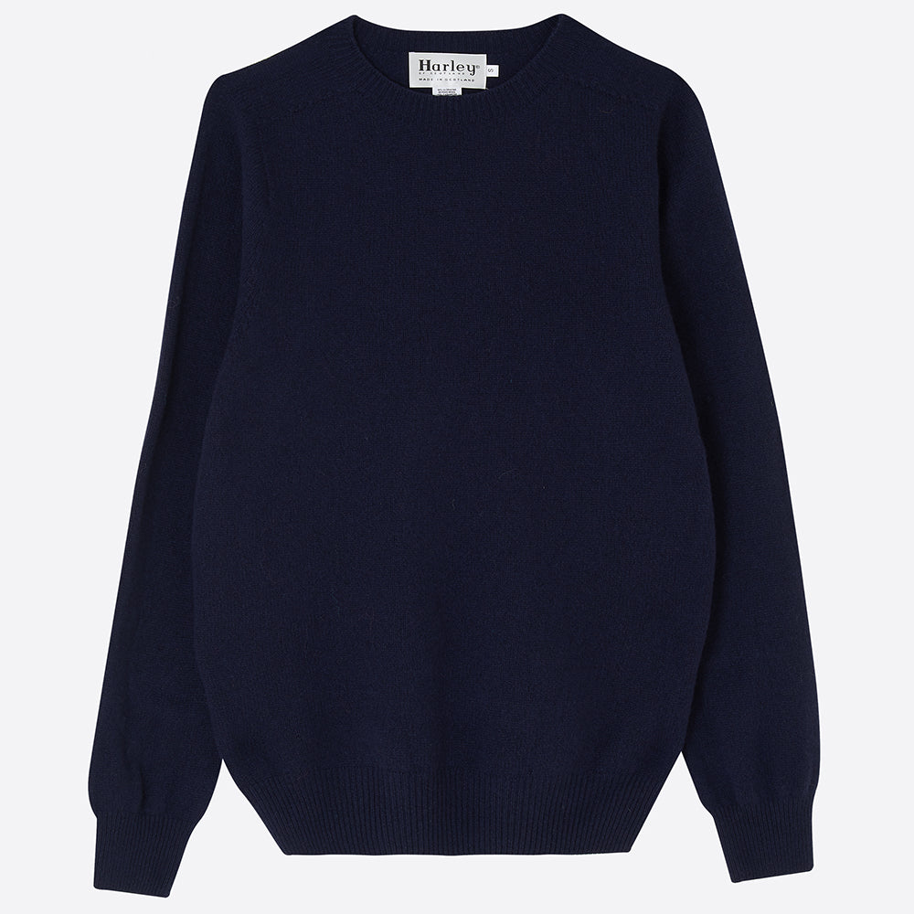 Men's Cashmere Jumper, Navy - closetandbotts