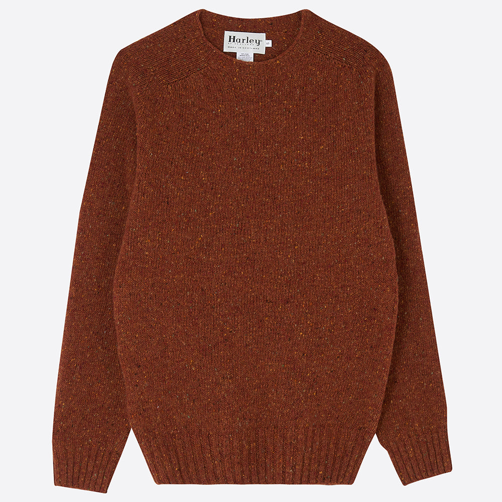Men's Donegal Jumper, Rust - Closet & Botts