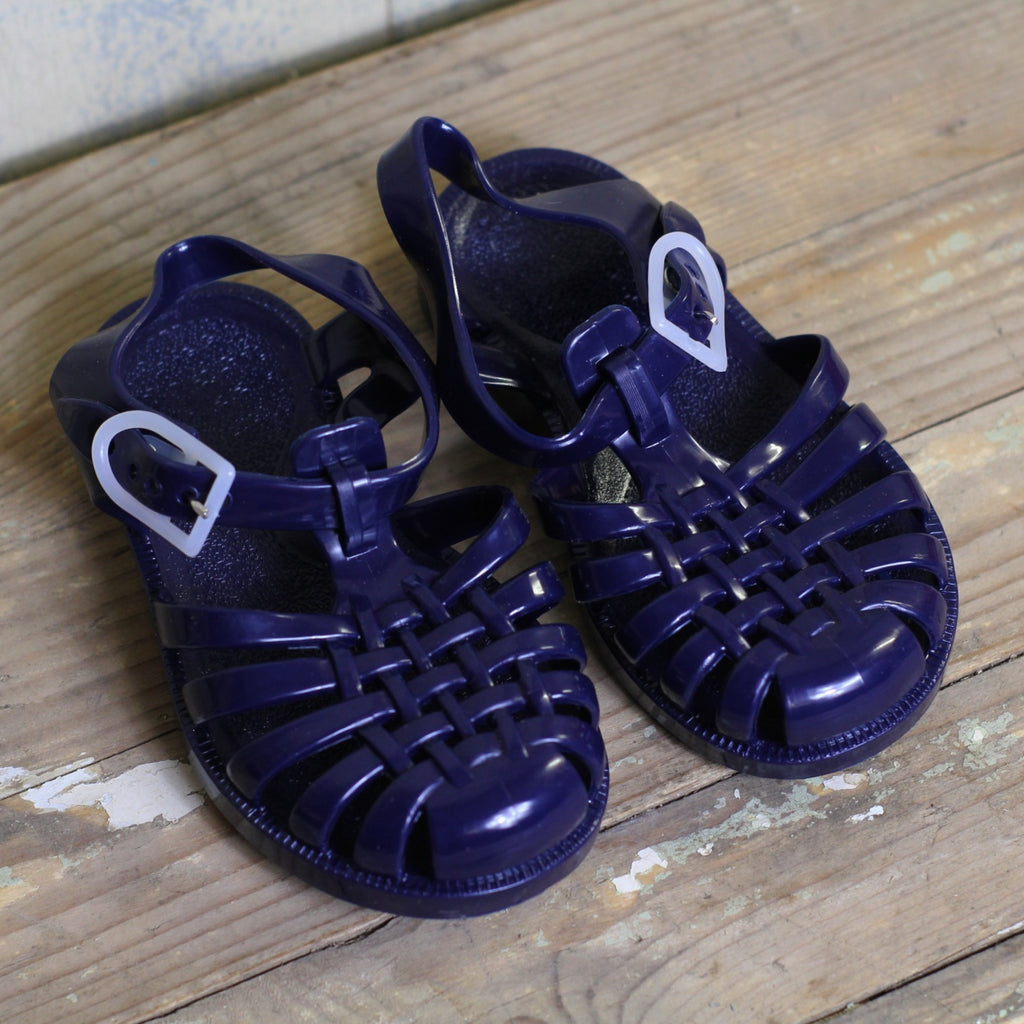 Jelly Shoes, Marine - closetandbotts