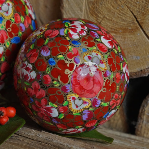 Hand painted Christmas bauble decoration