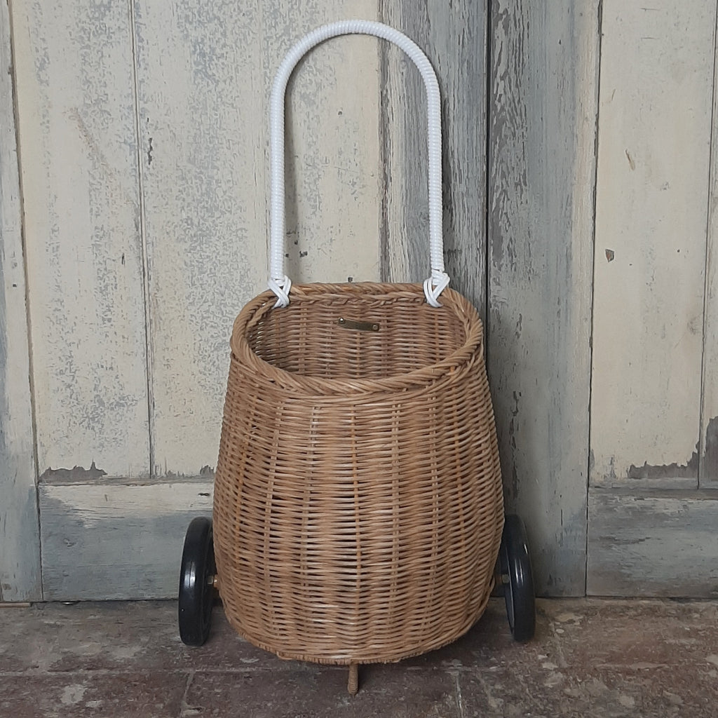 Luggy Shopping Trolley, Natural - Closet & Botts