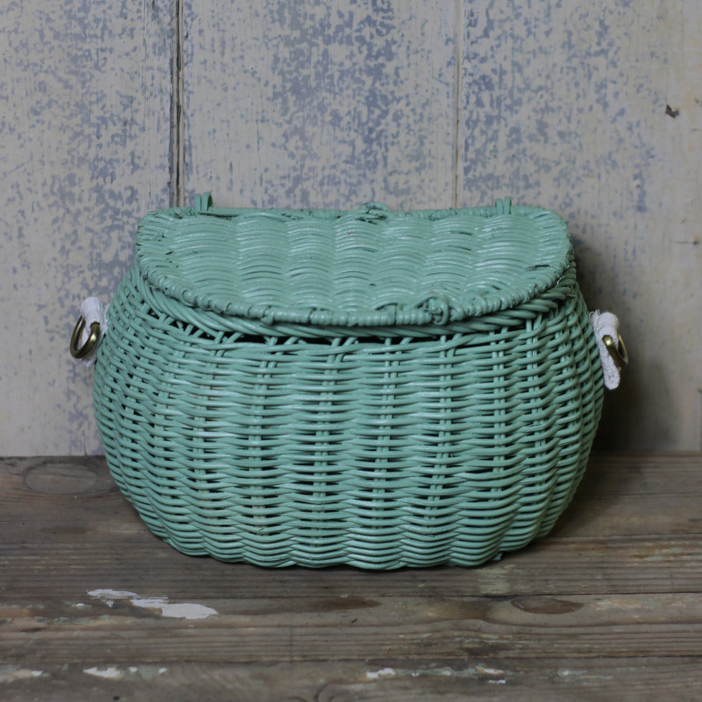 Mini Chari Basket, Mint - closetandbotts