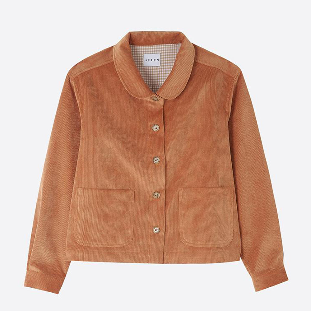 Needlecord Jacket, Apricot - closetandbotts