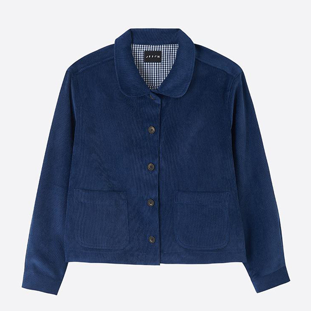 Needlecord Jacket, Navy - Closet & Botts