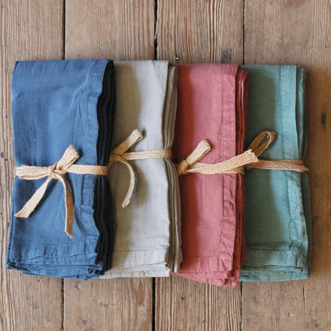Washed Cotton napkins, set of four