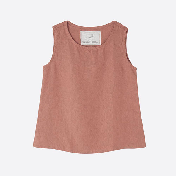 Linen Sleeveless Top, Blush - Closet & Botts