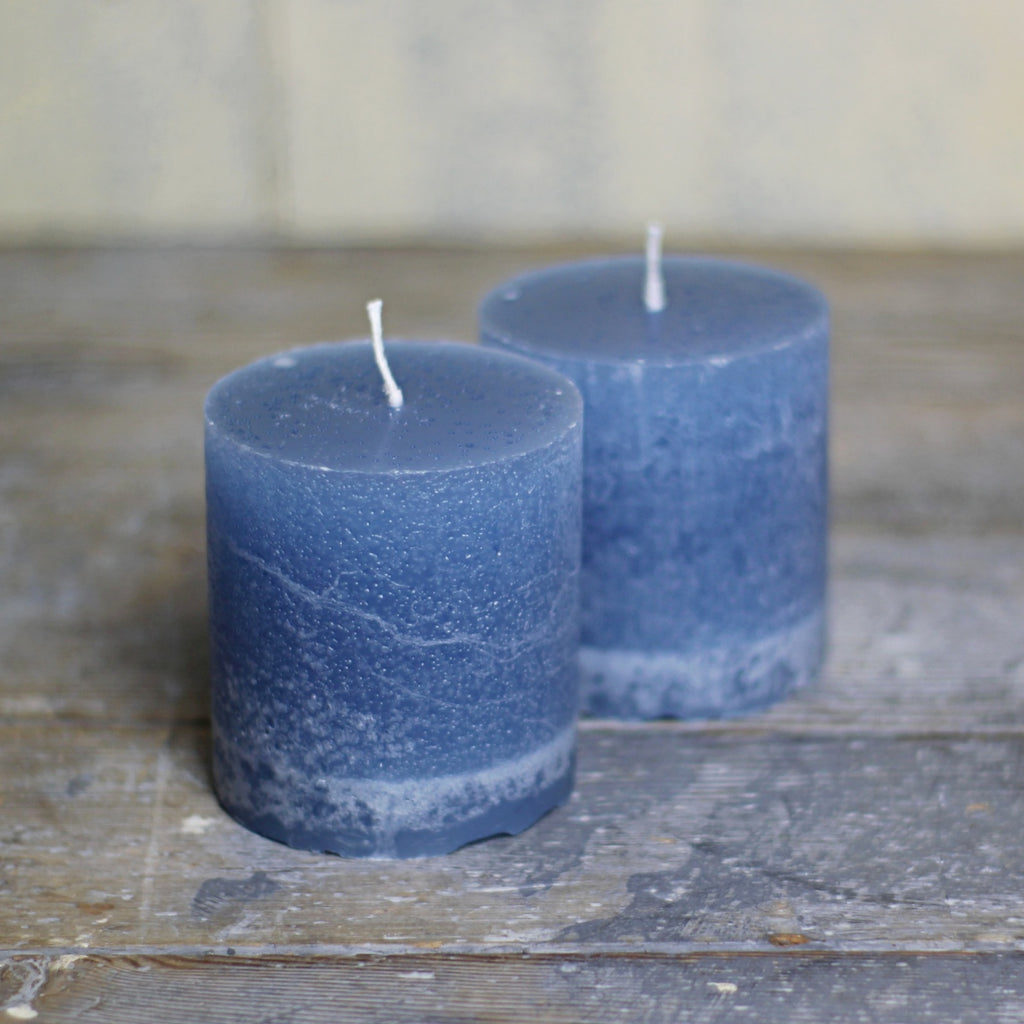 Pillar Candles - Blue - Homeware Store