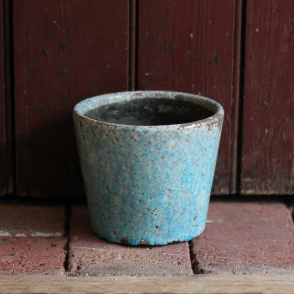 Crackleglaze plant pot