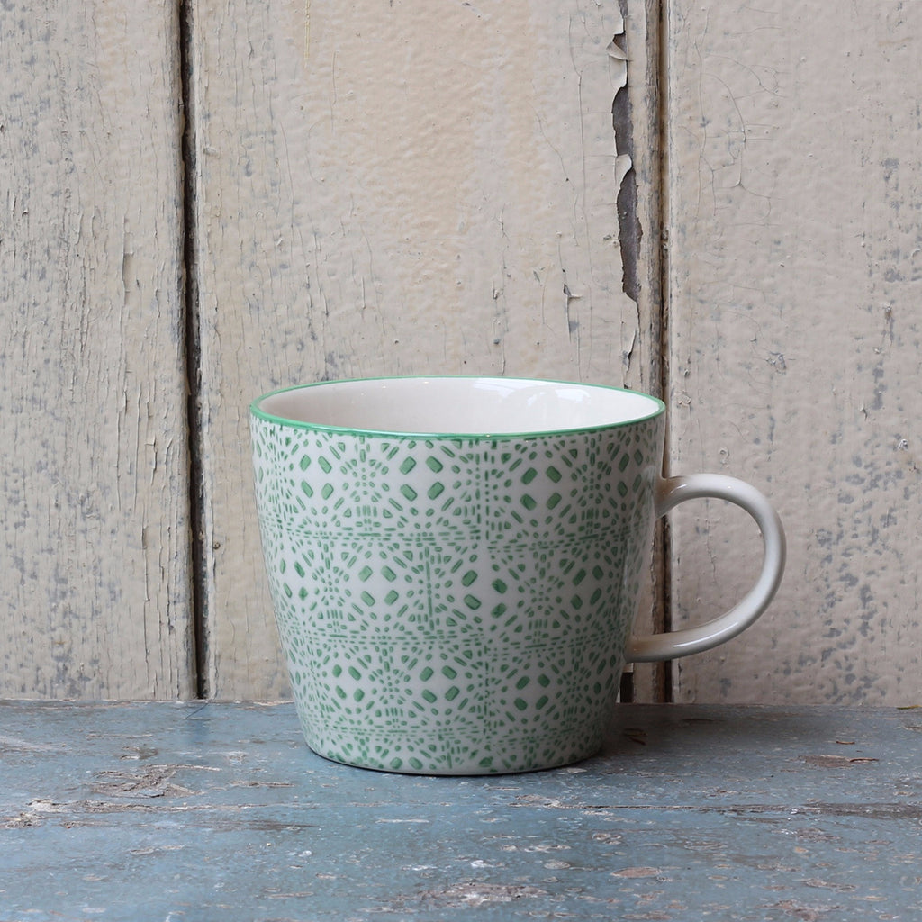 Bloomingville hand printed coffee mug - closetandbotts