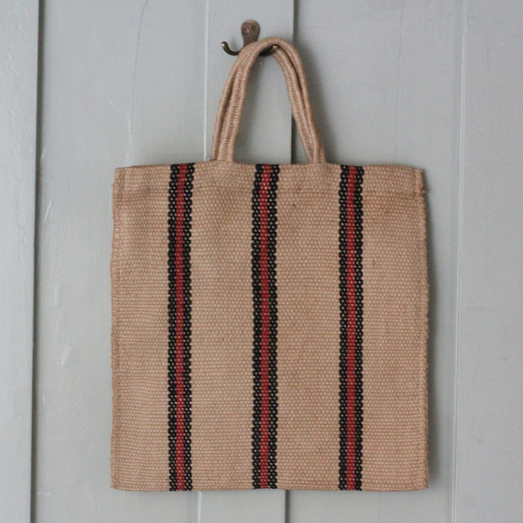 Stripey Jute shopper - closetandbotts