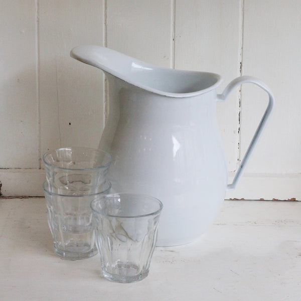 White Enamel Pitcher