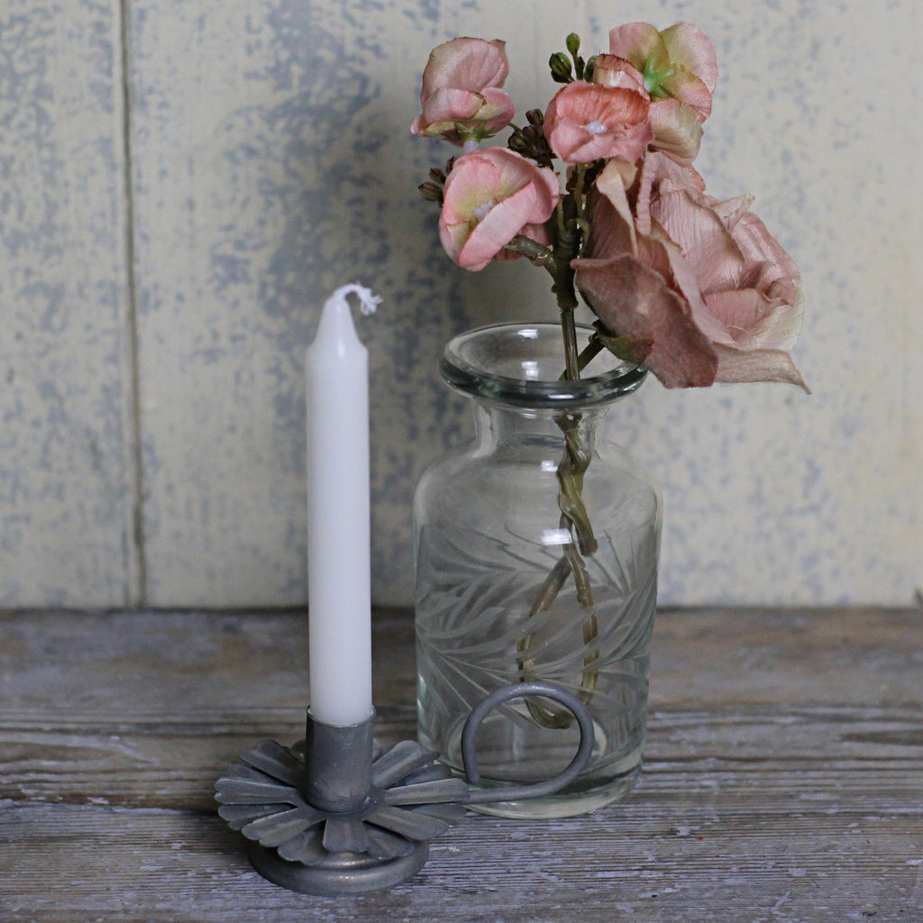 Zinc Flower Candle Holder - Closet & Botts