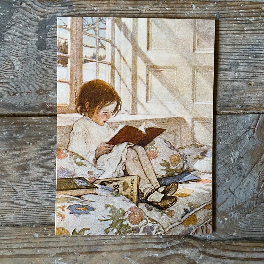 'A Girl Reading' Greeting Card - Homeware Store