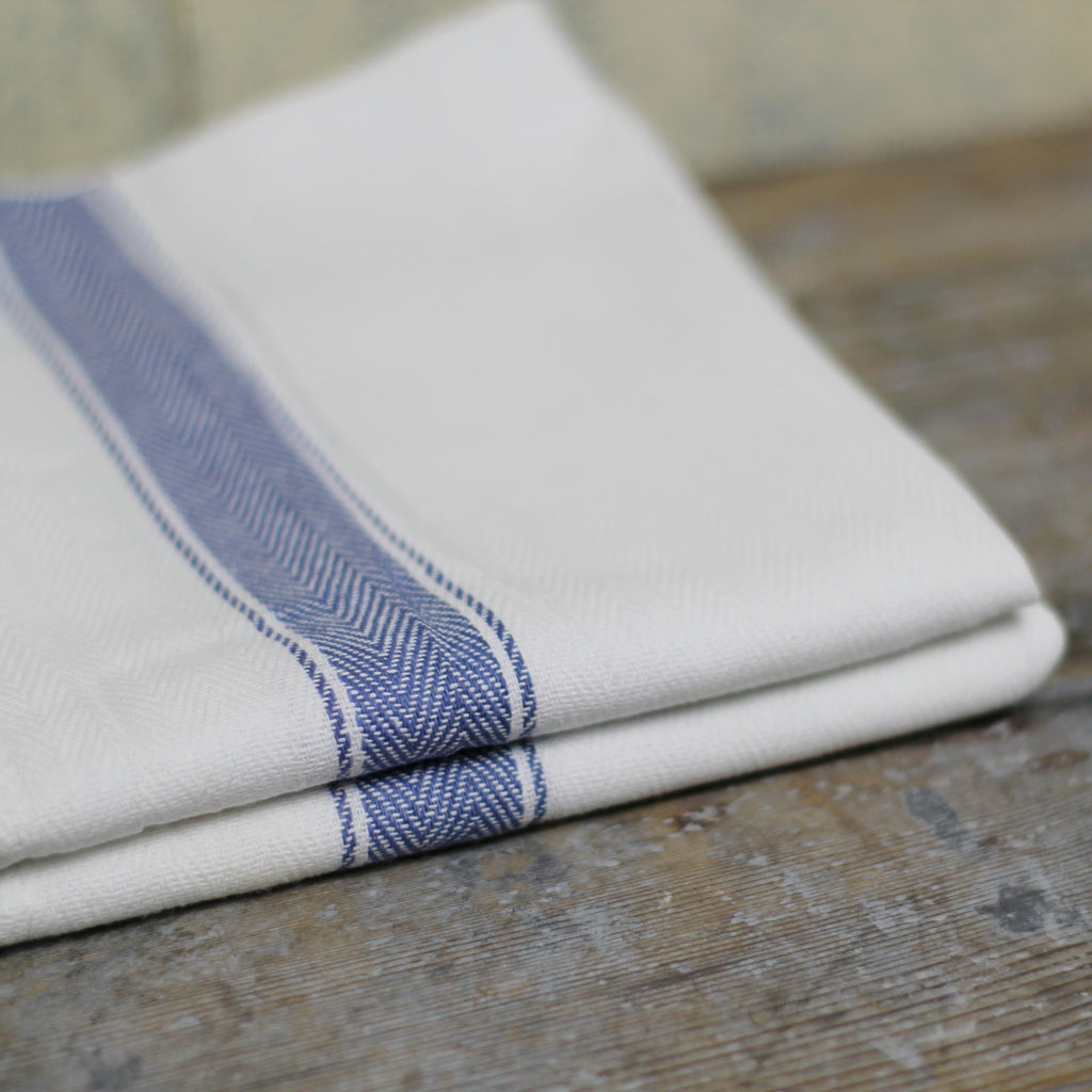 Cotton Glass Cloth - Blue stripe - Homeware Store