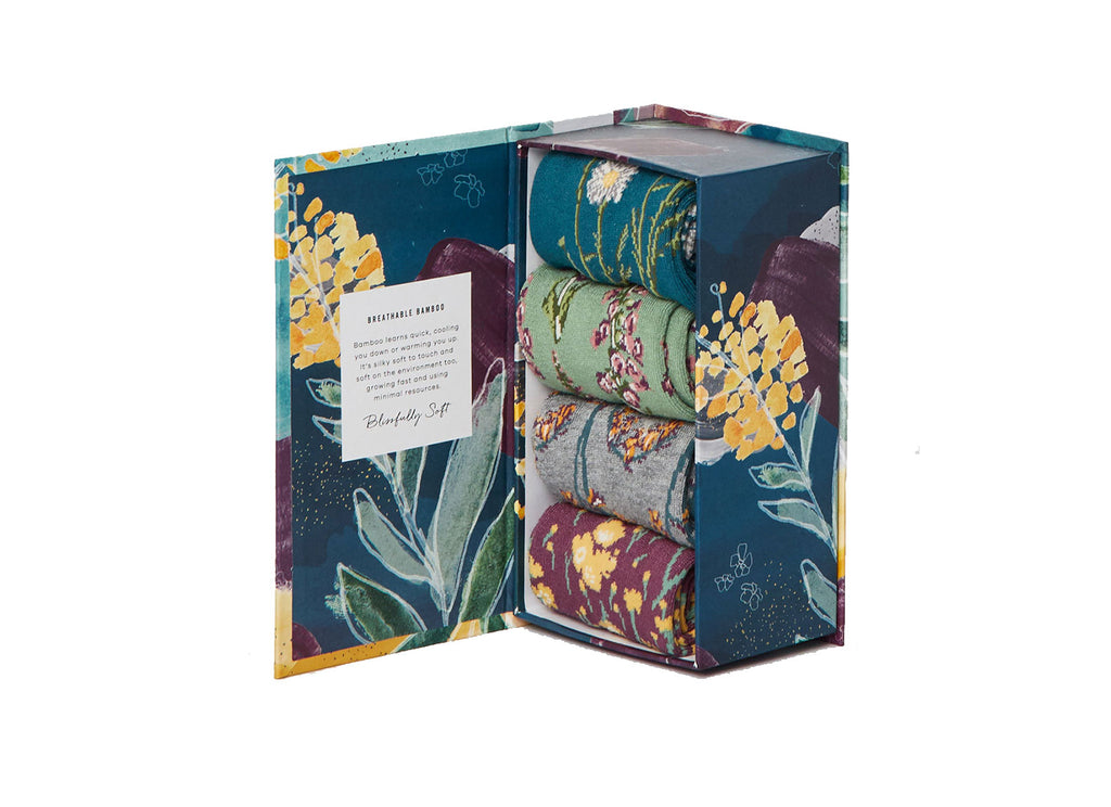 Garden Flowers Socks Gift Box