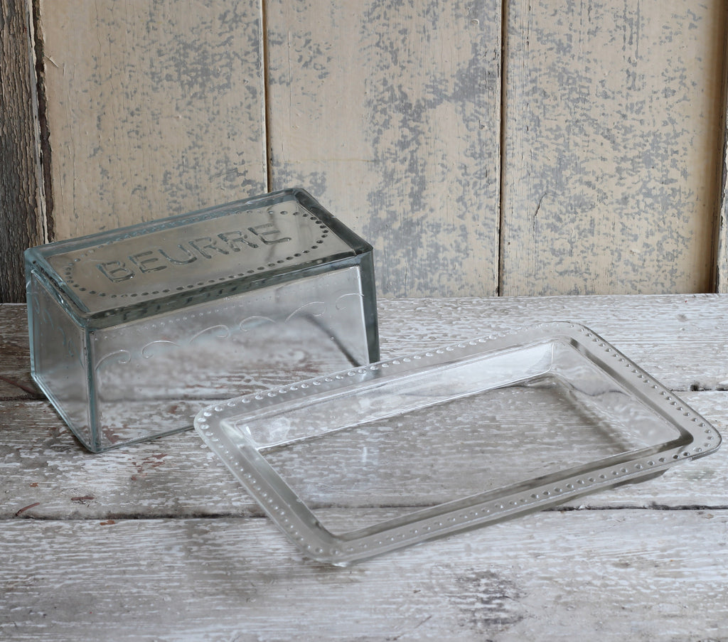 Glass butter dish 'beurre' - Homeware Store