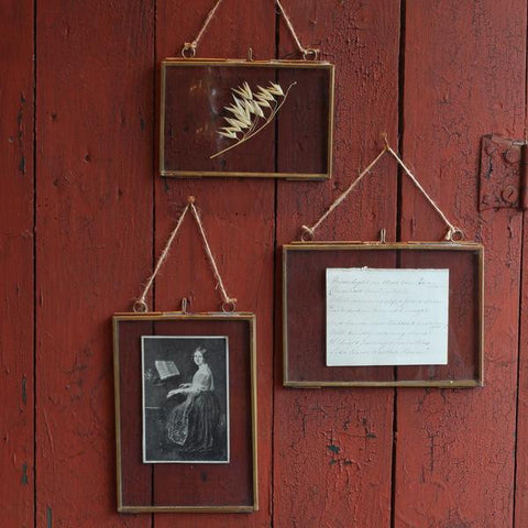 Brass Hanging Frame, Portrait, 4 x 6
