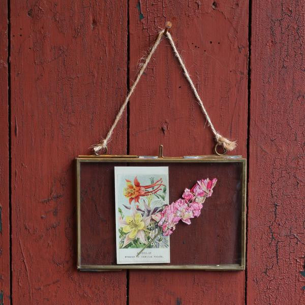 Brass Hanging Frame, 4 x 6, Landscape - Closet & Botts