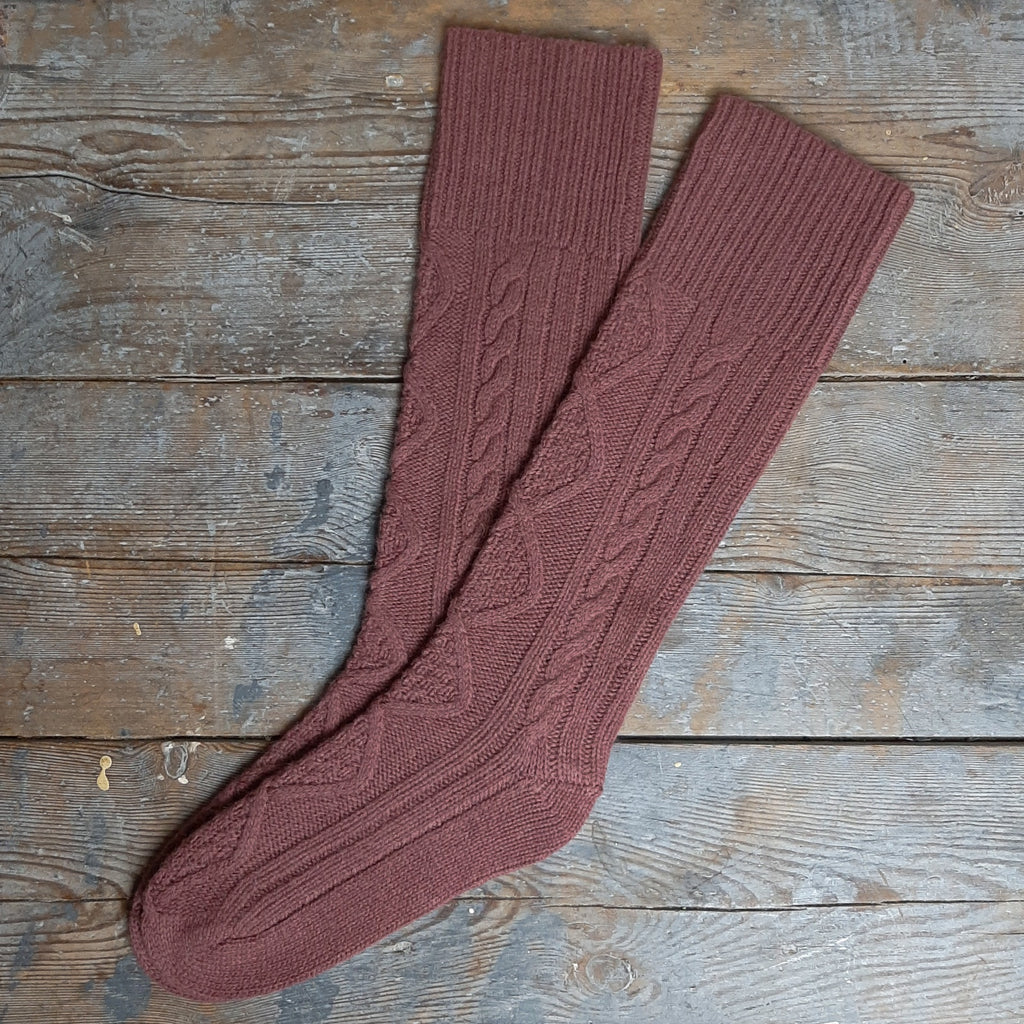 Lambswool Cable Socks - Homeware Store