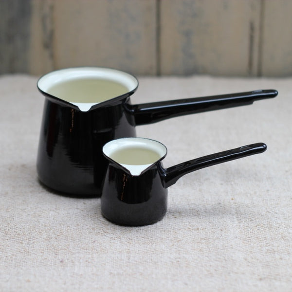 Small Enamel Creamer - Black
