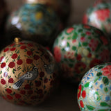 Painted Bauble, Gold Floral