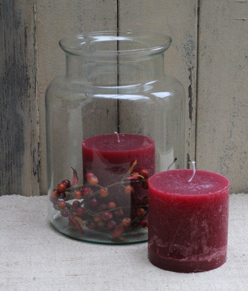 Wine Red Pillar Candle