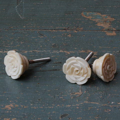 Bone door knob - Rose