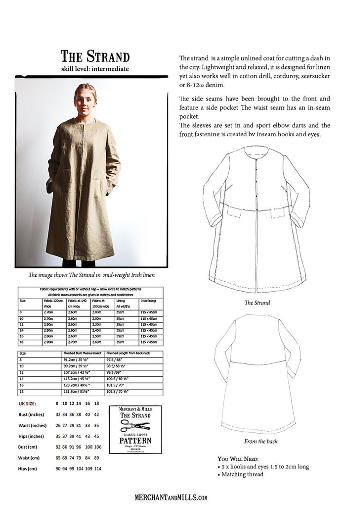 The Strand Coat Pattern - Closet & Botts