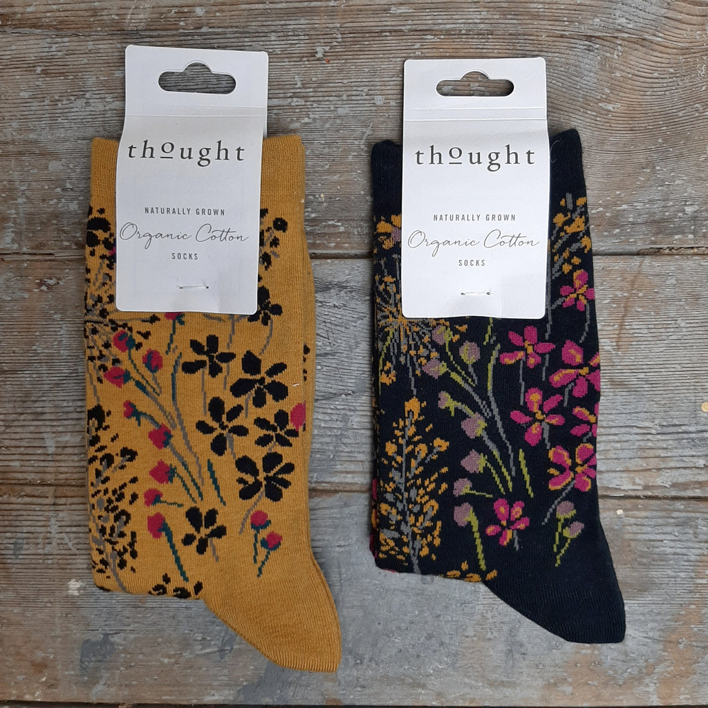 Thought Organic Cotton Socks, Floral - Closet & Botts