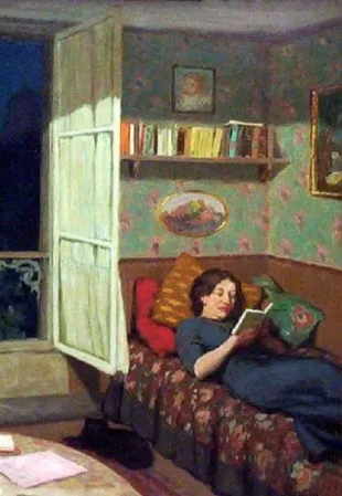 'Vilma Reading on the Sofa' Greeting card - [product_Option1 Value] - Homeware Store