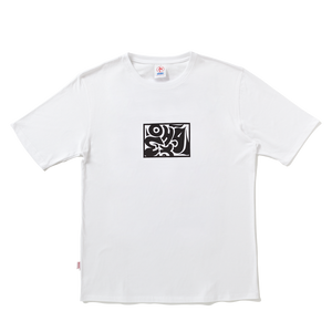 white tribal tee