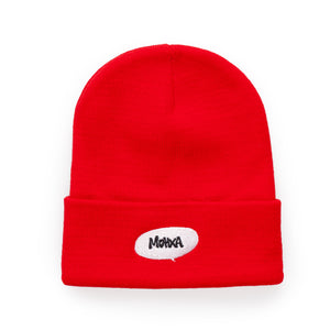 red comic beanie