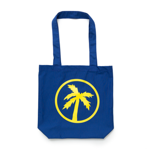 palm logo blue tote bag